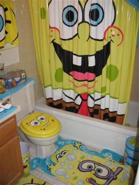 Spongebob Squarepants Bathroom Accessories Yellow Color Theme On Spongebob Bathroom Decor Spongebob Bathroom Decor Yellow Home