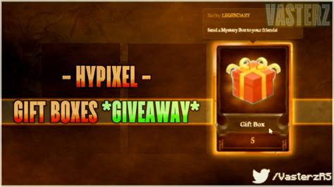 Hypixel Giveaway - hypixel giveaway minecraft quot gift boxes to 10 winners quot youtube