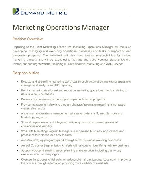 Advertising Operations Manager Sle Resume by Manager Responsibilities For Resume Assistant Manager Resume Retail Cv Updated