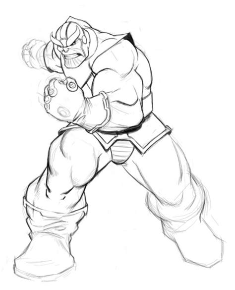 marvel thanos coloring pages infinity gauntlet thanos coloring pages sketch coloring page