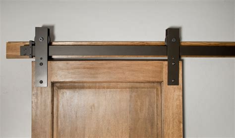 Closet Barn Door Hardware Made Interior Barn Door Hardware Flat Track Installation By Basin Custom Custommade