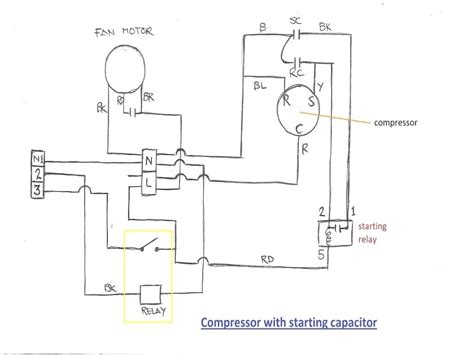 capacitor air conditioner wiring 28 images start