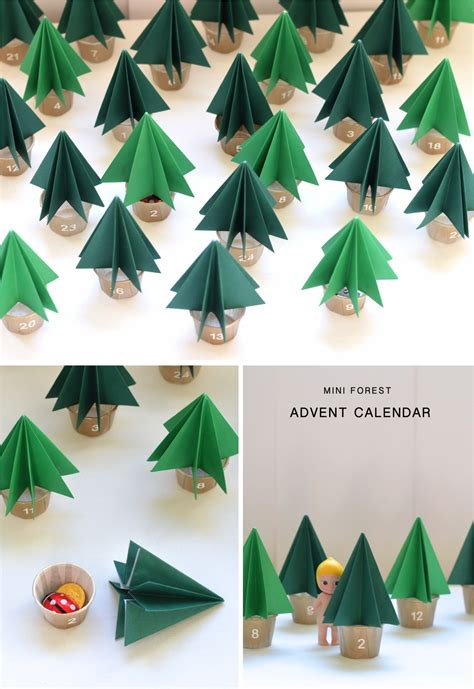 how to make your own advent calendar ebabee likes diy mini forest advent calendar