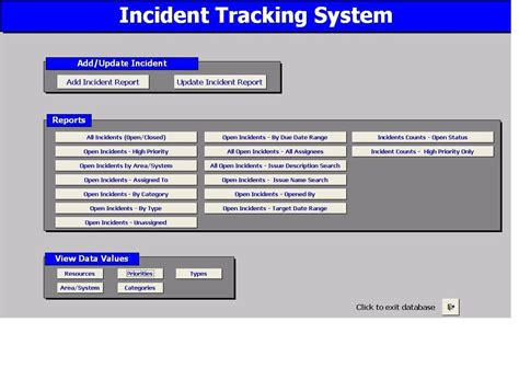 issue tracking access database template free issue tracking template access