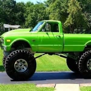 green chevy truck heavy chevy
