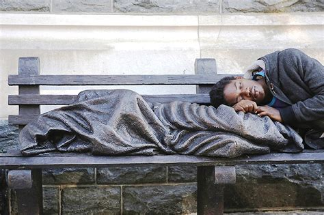 homeless jesus on park bench homeless jesus is just that in london pittsburgh post