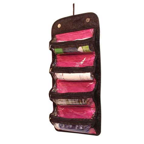New Travel Bags In Bag Organizer 5in1 protable travel cosmetic bag makeup pouch wall hanging toiletry storage new ebay
