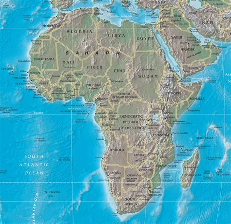 physical map of central africa central africa map quiz