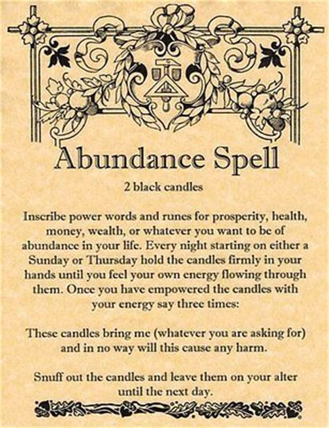 daemonic prosperity magick books abundance spell printable spell pages witches of the
