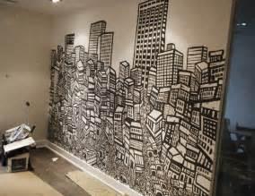 indoor wall murals graffiti art