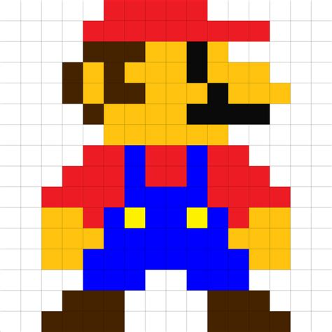 Drawing 8 Bit Characters 8 bit mario by raivcesleinadnayr on deviantart
