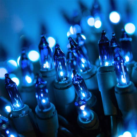 christmas lights 35 blue mini lights 4 quot spacing green wire