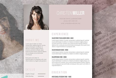 creative word document templates free creative resume templates