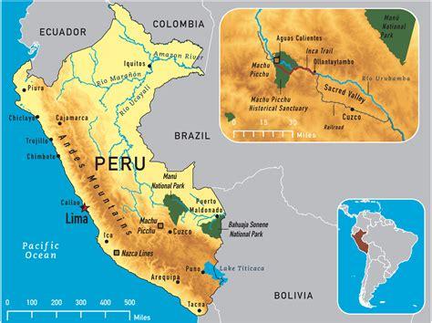 peru on the map map of peru 2011