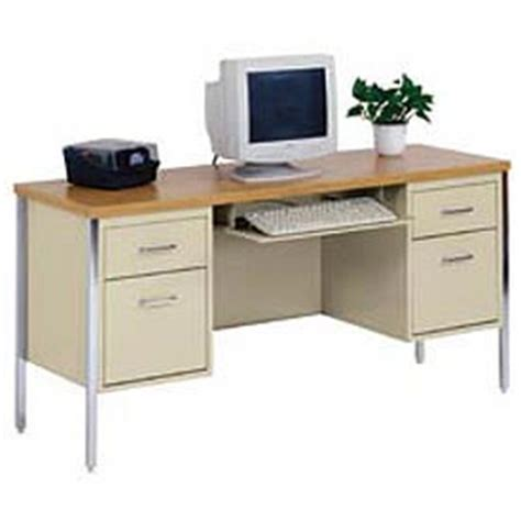 desks steel desks mbi kneehole steel credenzas