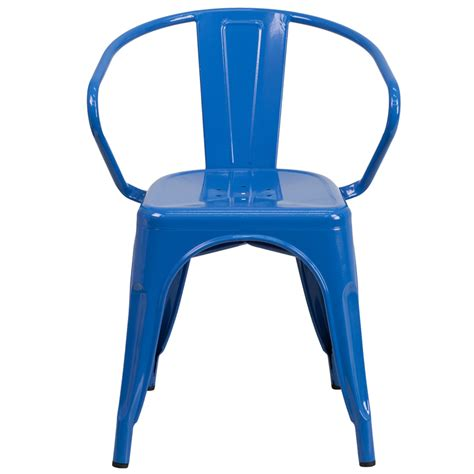 Cobalt Blue Chair by Cobalt Blue Galvanized Arm Chair In Outdoor