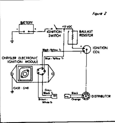 electronic ignition wiring diagram mopar alternator