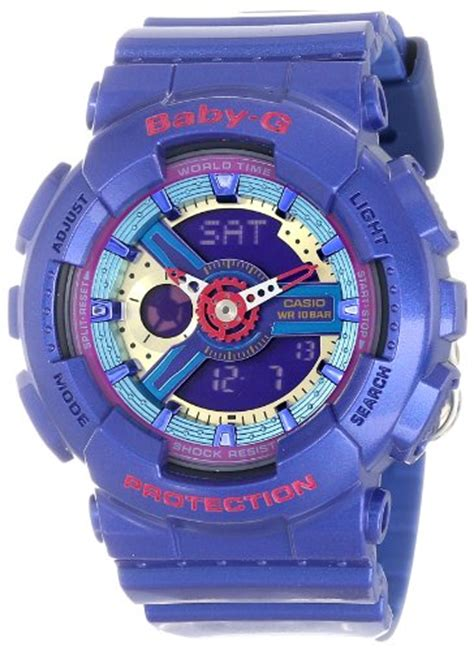 Casio Baby G Ba 110 Blk For G Shock Ba 112 2acr Ba 110 Baby G Blue Series Women S