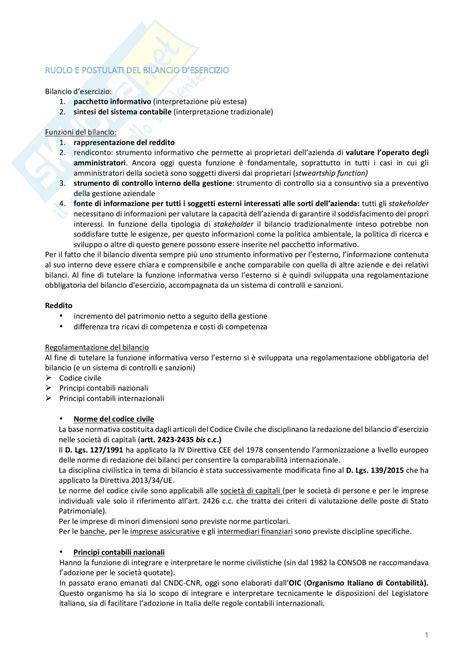 concetti base appunti di contabilit 224 e bilancio