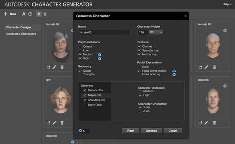 3d character creator character generator 3d character creation kanisco