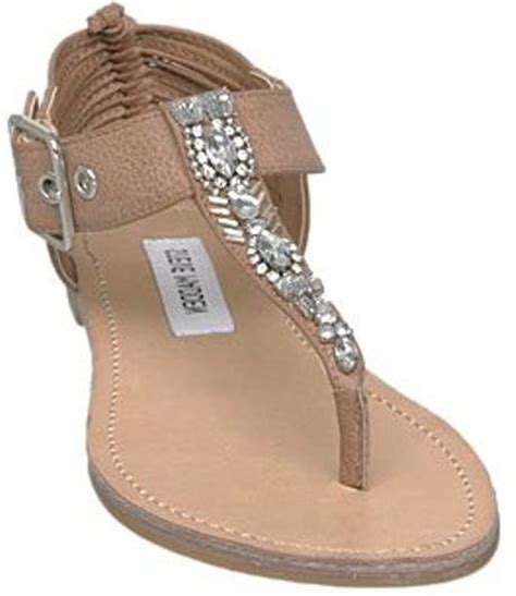 steve madden embellished sandals steve madden starzzz sm embellished t bar flat sandals in