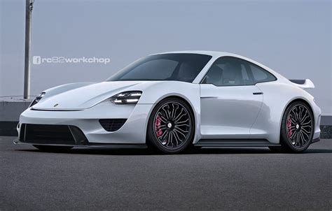 porsche electric porsche 911 with mission e front fascia makes for one