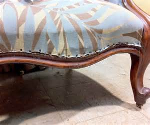 padgham upholstery tips trim on an antique chair