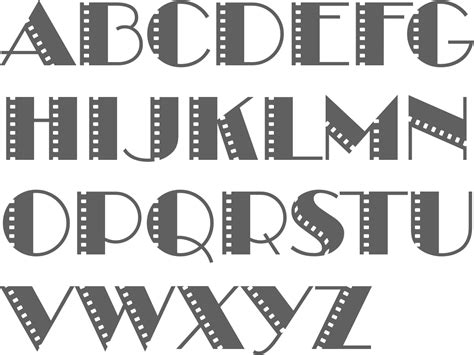 Letter Cinema Myfonts Cinema Typefaces