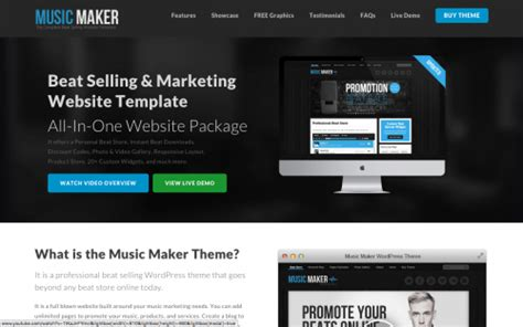 theme music creator music maker wordpress theme review