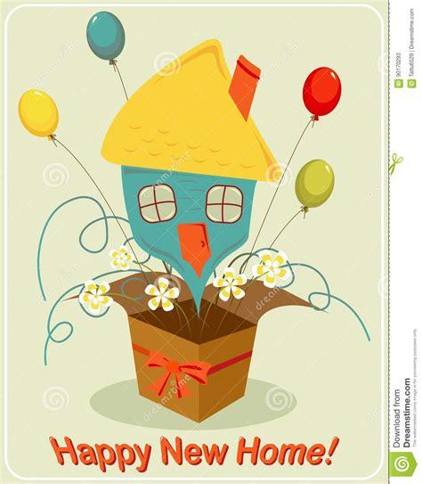 happy  home stock vector illustration