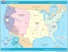 Time Zone Usa Map by The Gallery For Gt Usa Map With Time Zones