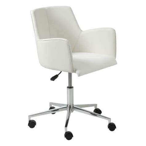 Furniture Comfortable White Rolling Desk Chair With Chair Desks And Chairs For