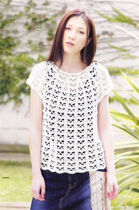 blouse pattern free pinterest free crochet pattern top blouse shirt crochet favoritos