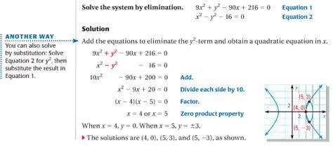 9 7 Solve Quadratic Systems Math Club