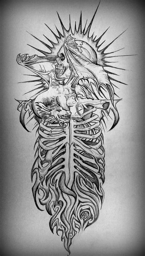 gothic sleeve tattoo designs by thatlederhosen on deviantart