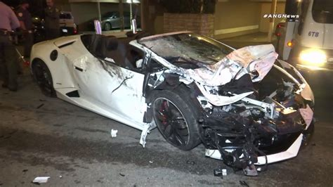 Lamborghini Crashes 2 Sought After Lamborghini Crashes Into Parked Car In