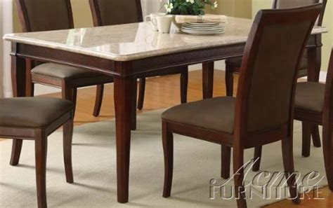 White Dining Table India Where Can I Find Acme 70060 White Marble Top Dining Table Cherry Finish Christopher G