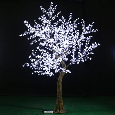 high quanlity indoor white led cherry blossom tree