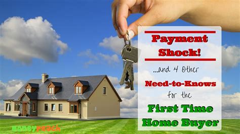 time home buyer payment shock 4 other need to knows