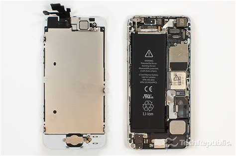 how to open a iphone 5s cracking open the apple iphone 5 techrepublic