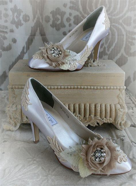 seraphina vintage lace shabby chic ivory and beige bridal