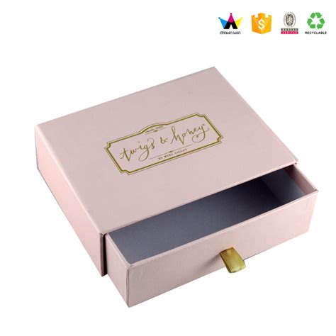 Cost Of Bow Window wholesale custom cardboard drawer small product packaging