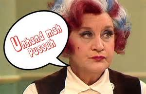 Mrs Slocombe's retort! Are You Being Served This Xmas? Colin Firth
