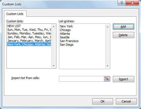 excel 2010 sorting tutorial custom sort list excel 2010 custom lists in excel easy