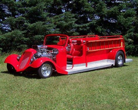 custom 1935 ford hot rod fire truck
