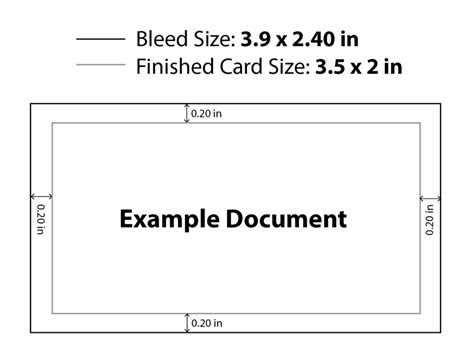 What Is Standard Business Card Size