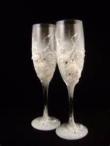 Wedding Wine Glasses Decorated Wedding Chagne Glasses Classic