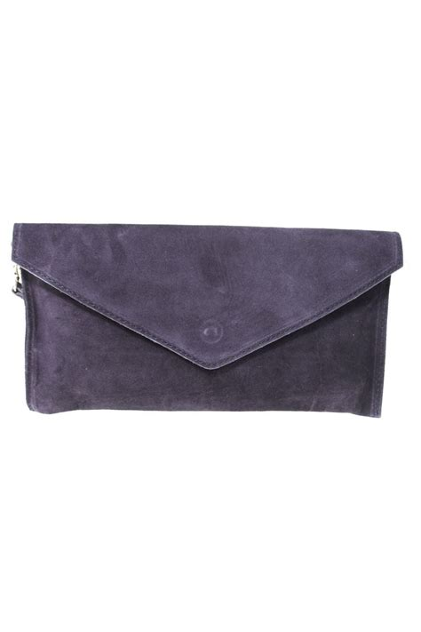 Rocker Chic Wylde Barolo Clutch by Blue Suede Clutch 1970s Style Clutch Bag Navy Envelope