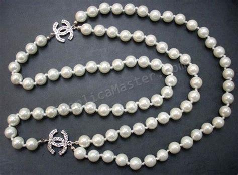 Chanel White Diamond Pearl Necklace Replica   $118 : Swiss Replica Watches Onsale