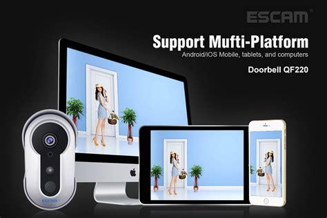 Escam Doorbell Qf220 Wifi Mini Ip Surveillance Cctv 960p escam qf220 smart doorbell silver